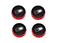 ES#3098830 - pce67-r-mbKT - Gear Center Cap Kit - Red - Red colored center caps for HD Tuning Gear wheels - HD Tuning - Audi Volkswagen