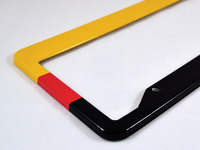 ES#3096458 - K1PF0 - License Plate Frame - German Flag - North American license plate frame wrapped in the colors of the German flag - Klii Motorwerkes - Audi BMW Volkswagen Mercedes Benz MINI Porsche