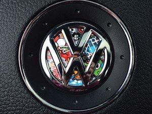 ES#3096628 - K5SW15 - Steering Wheel Badge Inlay - Stickerbomb - 5-piece badge inlay set for your steering wheel emblem - Klii Motorwerkes - Volkswagen