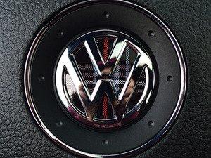ES#3096638 - K8SW4 - Steering Wheel Badge Inlay - MK5 GTI Plaid - 5-piece badge inlay set for your steering wheel emblem - Klii Motorwerkes - Volkswagen