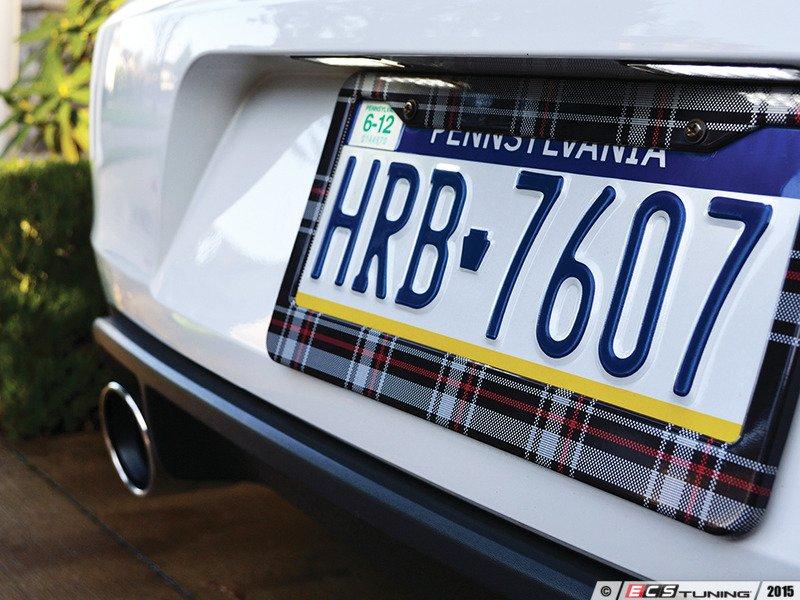 Klii Motorwerkes - K9PF0 - License Plate Frame - MK6 GTI Plaid