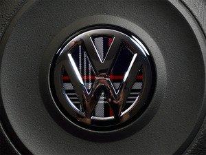 ES#3096393 - K12SW15 - Steering Wheel Badge Inlay - MK7 GTI Plaid - 5-piece badge inlay set for your steering wheel emblem - Klii Motorwerkes - Volkswagen