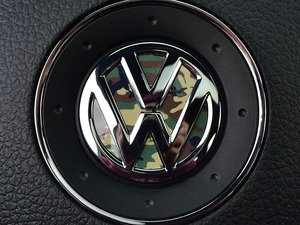 ES#3096410 - K15SW4 - Steering Wheel Badge Inlay - Woodland Camo - 5-piece badge inlay set for your steering wheel emblem - Klii Motorwerkes - Volkswagen