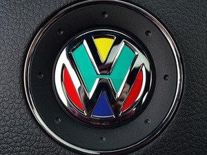 ES#3096454 - K19SW4 - Steering Wheel Badge Inlay - Harlequin - 5-piece badge inlay set for your steering wheel emblem - Klii Motorwerkes - Volkswagen