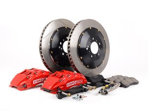 ES#3049137 - 83.152.6800.71 - StopTech front 6 piston big brake kit (380x32mm) - Comes with 6 piston red calipers, 2 piece uncoated slotted rotors and stainless steel brake lines. - Includes brackets and mounting bolts - StopTech - BMW