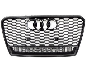 ES#2696375 - 4G8853651FT94 - RS7 Quattro Grille Assembly - Glossy Black / Carbon Fiber - Features the 'Quattro' nameplate across the bottom - Genuine Volkswagen Audi - Audi