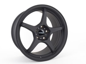 "ES#3075951 - e46m3ltw59.5bKT - 18"" LTW5 - Square set of four - Flat Black - A stylish lightweight option  --  9.5"" Width - D-Force Wheels - BMW"