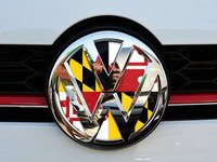 ES#3096508 - K23FR17 - Front Badge Inlay - Maryland Flag - 5-piece badge inlay set that can be applied without removing the badge - Klii Motorwerkes - Volkswagen