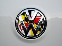 ES#3096514 - K23RE12 - Rear Badge Inlay - Maryland Flag - 1-piece full circle badge inlay that requires removal of the badge for installation - Klii Motorwerkes - Volkswagen