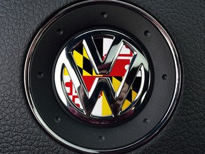 ES#3096521 - K23SW15 - Steering Wheel Badge Inlay - Maryland Flag - 5-piece badge inlay set for your steering wheel emblem - Klii Motorwerkes - Volkswagen