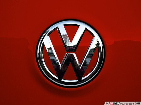ES#3096566 - K35RE12 - Rear Badge Inlay - Tornado Red - 1-piece full circle badge inlay that requires removal of the badge for installation - Klii Motorwerkes - Volkswagen