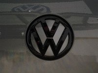 ES#3102347 - K50RE12 - Rear Badge Inlay - Limestone Gray Metallic - 1-piece full circle badge inlay that requires removal of the badge for installation - Klii Motorwerkes - Volkswagen