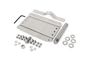 ES#3089103 - 0002S-AUA4 - No Holes License Plate Bracket Kit - Avoid drilling holes in your bumper by utilizing a tow hook mounted plate bracket - GMG Motorsports - Audi