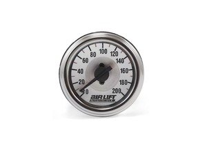 ES#1895420 - 26228 - 200 PSI Dual Needle Gauge - Chrome Bezel - Capable of displaying 2 readings and features a white illuminated face - Air Lift - Audi BMW Volkswagen