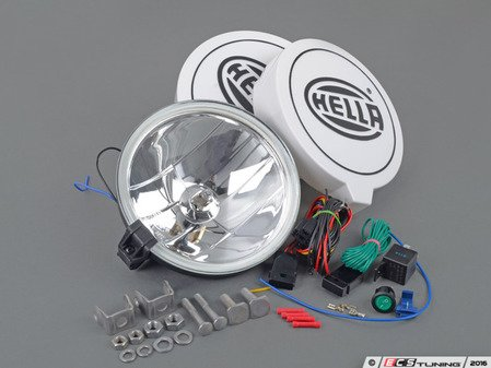 ES#3090505 - 010032801 - Hella 700FF Driving Lamp Kit - Auxiliary/Universal Lamp Kit - Light up the road ahead and make a statement! - Hella - Audi BMW Volkswagen Mercedes Benz MINI Porsche