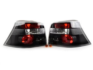 ES#3021580 - LTGLF99JMTM - Black Tail Light - Pair - Stylish aftermarket tail lights for your MK4 Golf / GTI / R32 with a black housing - Spec-D Tuning - Volkswagen