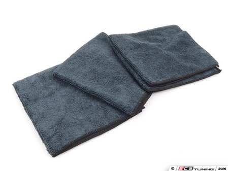 "ES#2848125 - MIC35301 - Workhorse Black Professional Grade Microfiber Towel, 16"" x 16"" - Priced Each - Keep your car looking its best - Chemical Guys - Audi BMW Volkswagen Mercedes Benz MINI Porsche"