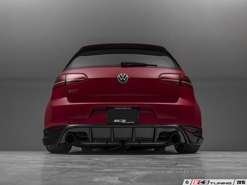 ecs news ecs carbon fiber rear diffuser vw mk7 gti. Black Bedroom Furniture Sets. Home Design Ideas