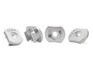 ES#3106543 - 034-601-0032 - Billet Aluminum Rear Subframe Insert Kit - Maintain proper suspension geometry when cornering and reduce rear subframe movement - 034Motorsport - Audi Volkswagen