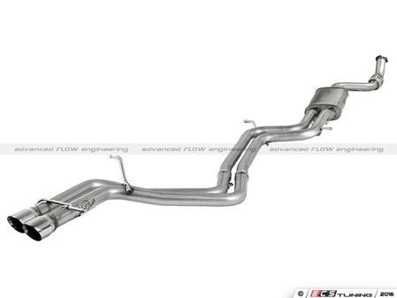 """ES#2985787 - 49-46403 - Cat-Back Exhaust System - Single Exit - 2.75"""" reduced to 2.5"""" Stainless downpipe to dual 2.25"""" exhaust with Polished tips - AFE - Audi"""