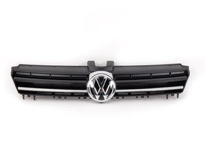 "ES#2742791 - 5GM853651AZLL - Golf Lighting Package Grille - With Chrome Strip - Gloss black bars with chrome strip and ""VW"" badge - Genuine Volkswagen Audi - Volkswagen"