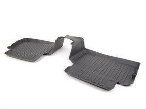 ES#2530956 - 82112290688 - Rear Floor Mat Liners Black - Set - All Weather Floor Mats - Genuine MINI - MINI