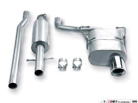 """ES#3031816 - 140030 - Stainless Steel Cat-Back Exhaust - 2.5"""" stainless steel with dual 4.00"""" oval-rolled, angle-cut tips - Borla - MINI"""