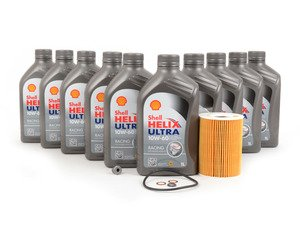 ES#3106721 - M56SVCKT2 - Shell Helix Ultra Racing Oil Change Kit - Everything needed for a basic oil service including Shell Helix Ultra Racing oil - Assembled By ECS - BMW