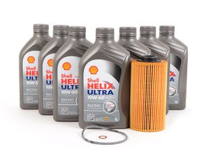 ES#3106724 - E39M5INKT8 - Shell Helix Ultra Racing Oil Change Kit - The perfect kit to service your M5 or Z8 using Shell Helix Ultra Racing oil and a Mann oil filter - Assembled By ECS - BMW