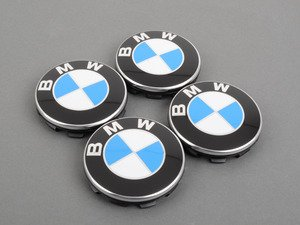 ES#3025922 - 36136783536X4 - BMW Center Caps - Set of Four - Updated design from BMW. Used in most OEM (and many aftermarket, including APEX) wheels requiring a simple roundel center cap. - Genuine BMW -
