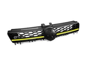 ES#3106628 - 019252ECS02-03A - GTI Lighting Package Grille - With Yellow Strip - Gloss black honeycomb with yellow strip and badge holders - ECS - Volkswagen