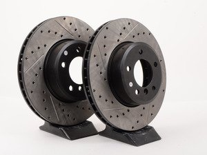 ES#3025778 - 34116753221CDS - Cross-Drilled & Slotted Brake Rotors - Front  - This design removes performance robbing outgas and material dust caused by braking - Centric - BMW