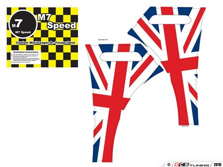 ES#3098407 - 92-9102 - M7 A-Fender Wrap For R50-R53 MINI Cooper - Union Jack-Color - Add some checkers to your side fender - M7 Speed - MINI