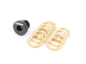 ES#2986563 - 013862ECS02A - Magnetic Oil Drain Plug  - Attracts metal particulates that would otherwise be circulating your engine! Includes 10 copper washers M16x1.5 - ECS - BMW