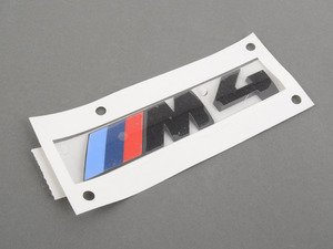 ES#3101351 - 51148068579 - M4 Black Trunk Emblem - Black out your emblems for a different look - Genuine BMW - BMW