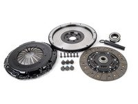 ES#3021840 - BFI18228ST2 - BFI Stage 2 Clutch Kit - Lightweight 228mm Single Mass Flywheel (11.85lbs.) - This assembly provides an estimated 80% increase in torque capacity and is properly suited for aggressive street use and moderate track use. - Black Forest Industries - Audi Volkswagen