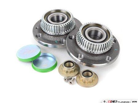 ES#2594440 - 1J0501477AKT - Rear Wheel Bearing Kit - Everything you need to replace both wheel bearings with hubs - Assembled By ECS - Audi Volkswagen
