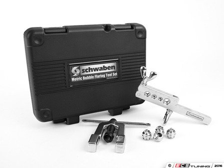 ES#2748895 - 006394SCH01A - Metric Bubble Flaring Tool Set  - Used when replacing corroded brake lines to create a factory connection - Schwaben -