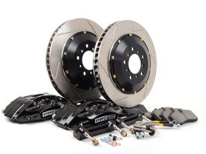 ES#3048387 - 83.155.4700.51 - StopTech front 4 piston big brake kit (355x32mm)  - Comes with 4 Piston black calipers, 2 Piece uncoated slotted rotors and stainless steel brake lines. - Includes brackets and mounting bolts. - StopTech - BMW