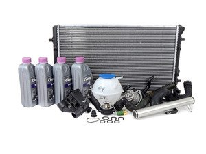 ES#2765590 - MKIVR32COOLKT1 - ECS Cooling System Refresh Kit With Silver ECS Water Pipe - Kit assembled with all the usual wear items in the cooling system to keep your engine at optimum temperature. - Assembled By ECS - Volkswagen