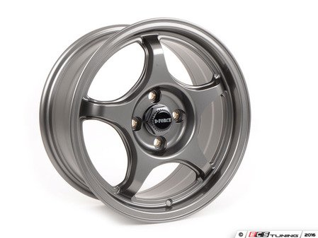 "ES#3137369 - e30ltw5aKT - 15"" LTW5 - Square Set Of Four - Anthracite  - Lightweight street and track wheel setup with a classic E30 autox look - only 13lbs per wheel! - D-Force Wheels - BMW"