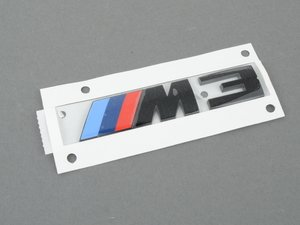 ES#3016114 - 51148068580 - M3 Black Trunk Emblem - Black out your emblems for a hot look - Genuine BMW - BMW