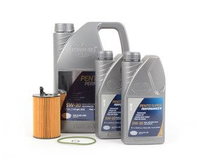 ES#2784436 - C7TDIOCKT2 - Oil Service Kit - Premium - Includes 7 liters of Pento Super Performance 504.00 / 507.00 / (5w-30), filter, and drain plug sealing washer - Assembled By ECS - Audi