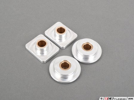ES#3079680 - 6345393 - Solid Shifter Bushing Kit - Rectangle 8.5mm - Round 8.0mm - Tighten your shifter and stop missing shifts with Billet shifter bushings! - 42 Draft Designs - Audi Volkswagen