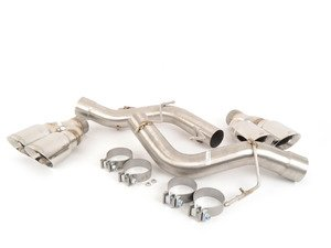 "ES#3062794 - TENF1347A2P - Race Inspired Axle-Back Exhaust - Let your twin turbo V8 sing! 304 stainless rear muffler delete with quad 4"" tips. - Turner Motorsport - BMW"