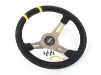 ES#3135815 - R1907/33S - MOMO Mod.Drift Steering Wheel - Black Suede - 330mm  - Black suede with silver spoke finish - MOMO - BMW Volkswagen