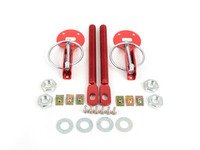 ES#3021825 - HP0100RD - Sparco Aluminum Hood Pin Kit - Red - Aluminum lightweight hood pins to keep your carbon fiber hood in place - Sparco - Volkswagen