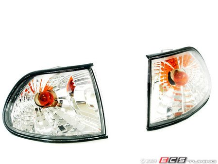"""ES#10678 - FKBLBM916 - FK E38 """"Robot Eye"""" Side/Corner Marker Light Set-Crystal Clear - Switch out the US spec orange marker lights with these smoked markers for your E38 7-Series - FK - BMW"""