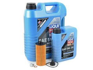 ES#3125860 - 11428570590kt7 - MINI Liqui Moly 5w-30 Oil Service Kit Gen 3 2.0L - Priced As Kit - All in one service for your MINI : with Oil Pan Drain Plug - Assembled By ECS - MINI