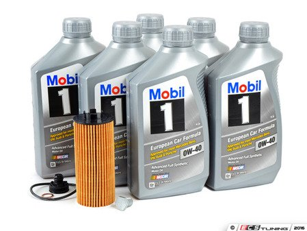 ES#3125863 - 11428570590kt8 - MINI Mobil 1 0w-40 Oil Service Kit Gen 3 2.0L - Priced As Kit - All in one service for your MINI : with Oil Pan Drain Plug - Assembled By ECS - MINI